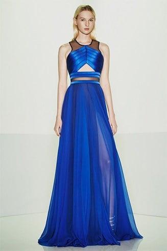Fashion designer Alexander McQueen dresses
