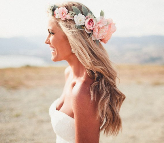 floral wedding crowns