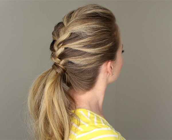 French Braid Pony Tails