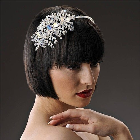 Gloria wedding headpiece
