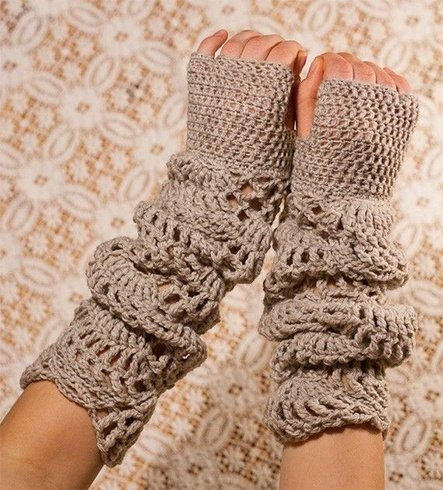 Half finger gloves crochet pattern