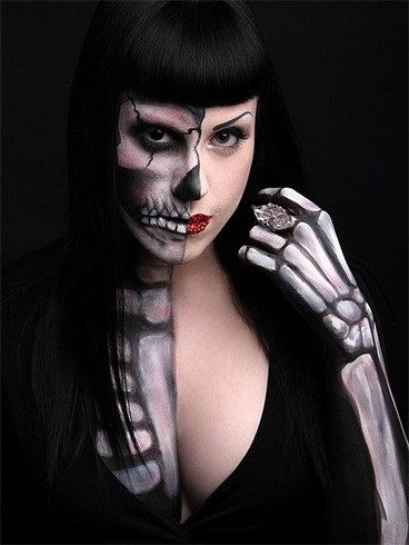 20 most terrifying and simple makeup for halloween