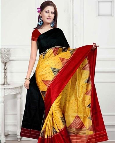 Handloom sarees in bandhani