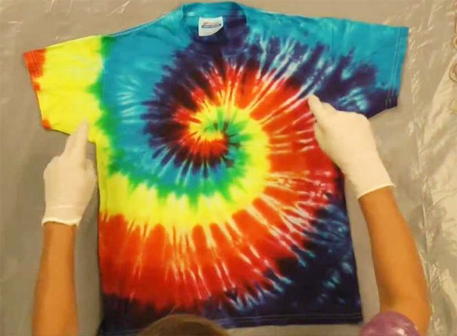 Homemade tie and dye