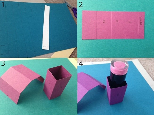 Easy and quick diy lipstick holder for your stash how to make lipstick holder solutioingenieria Gallery