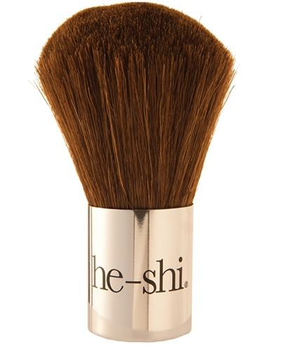 How to apply bronzer with a kabuki brush