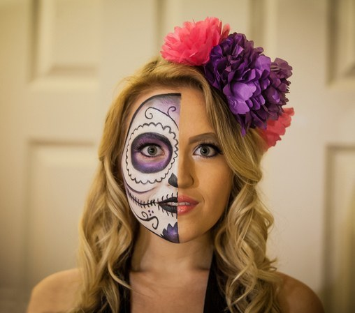 How to do sugar skull makeup