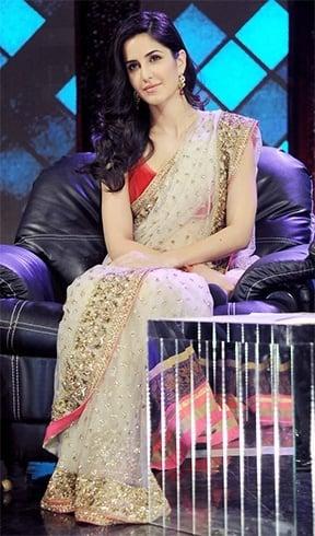 Katrina in Manish Malhotra saree