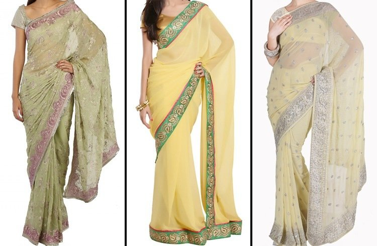 Latest farewell party sarees