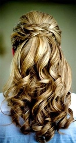 Long hairstyles for bridesmaids