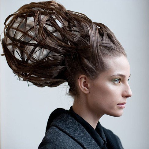 Molecular structure hairstyle