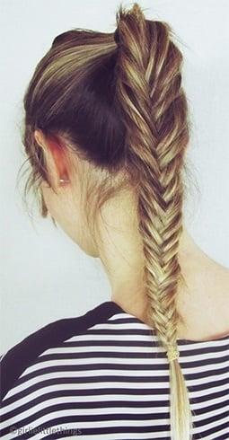 Ombre hair fishtail braid