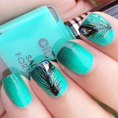 130 beautiful nail art designs just for you also read peacock nail art designs prinsesfo Choice Image