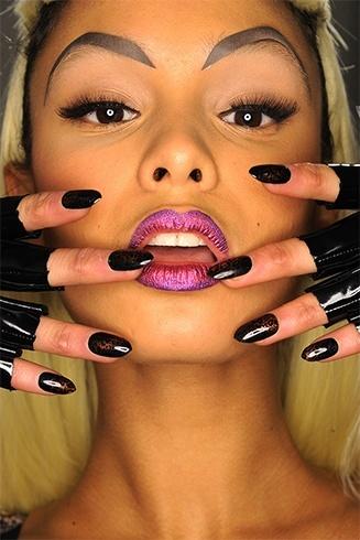 Pink glitter lipstick