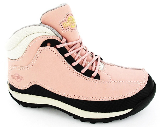 Pink steel toe boots
