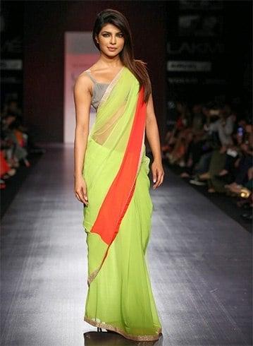 Plain designer sarees