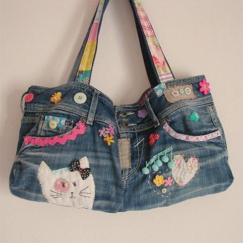 Recycle jeans bags