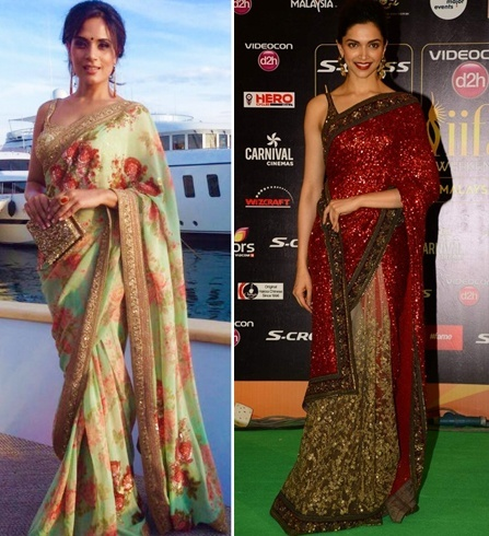 Richa and Deepika in Sabyasachi saree