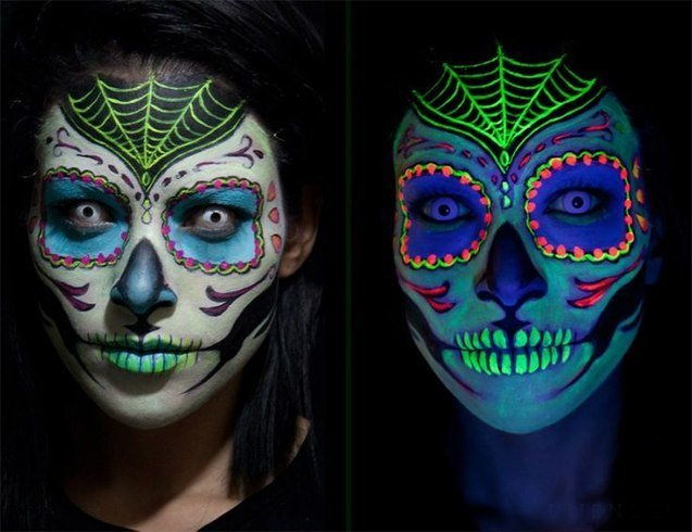 Sugar skull makeup types