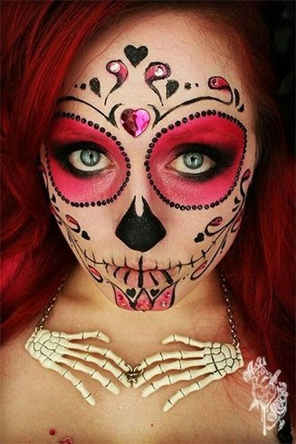 Sugar skull women makeup