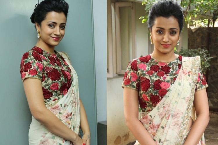 Trisha Krishnan in Varun Bahl saree