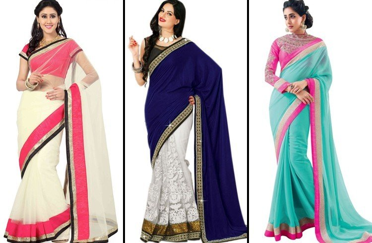 Two-toned sarees