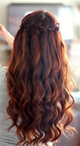 Waterfall braid hair