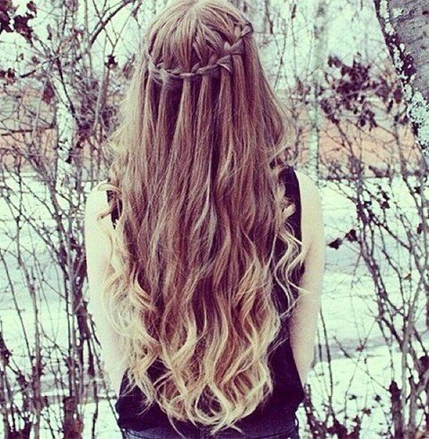 Waterfall Braid wavy hairstyles