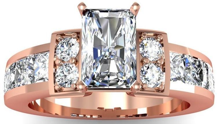 wedding rose gold rings