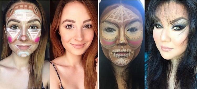70er Jahre Makeup Tutorial für Clown Contouring jetzt enthüllt