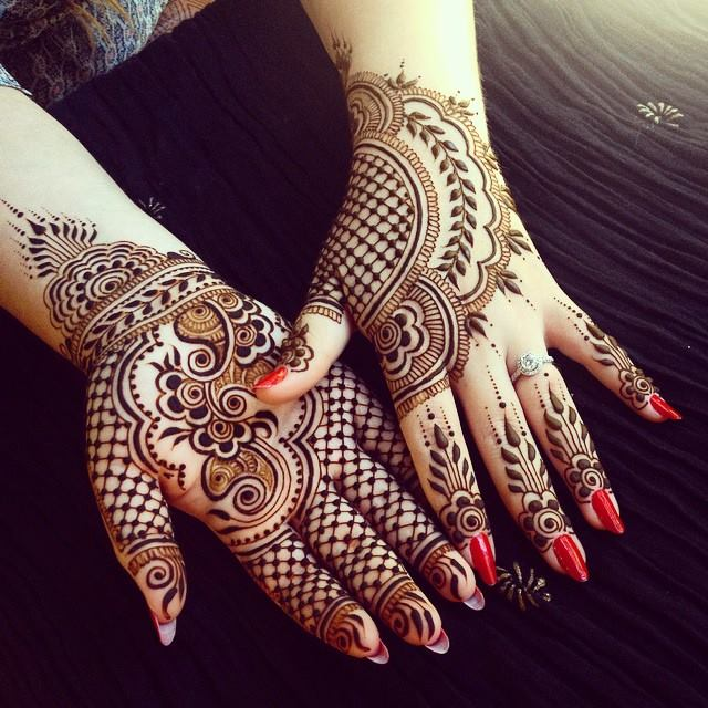 Back and Front Hand Mehndi Design ideas