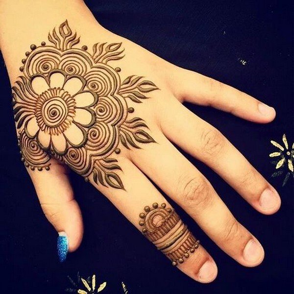 Floral Mehndi Karwa chauth