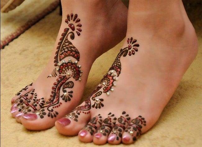 Karva chauth Feet Mehndi