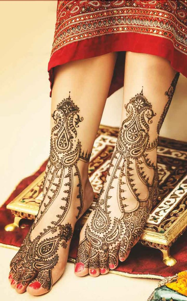 Full Legs Mehndi Designs For bride