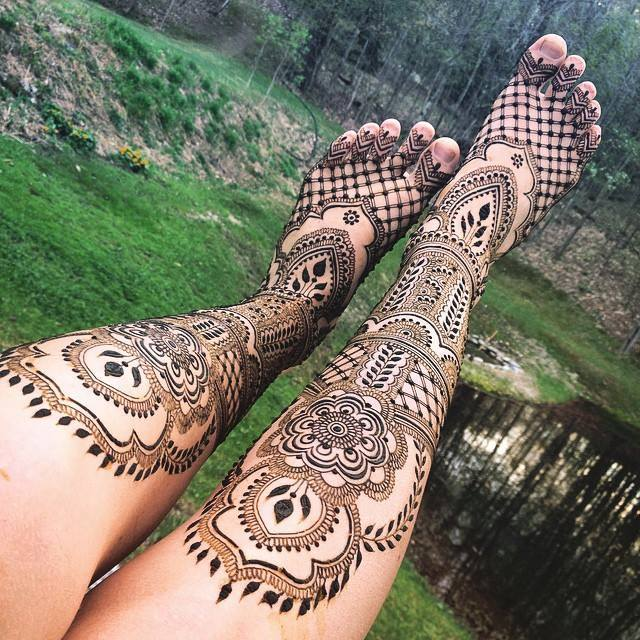 Mehndi Designs for Legs and Feet