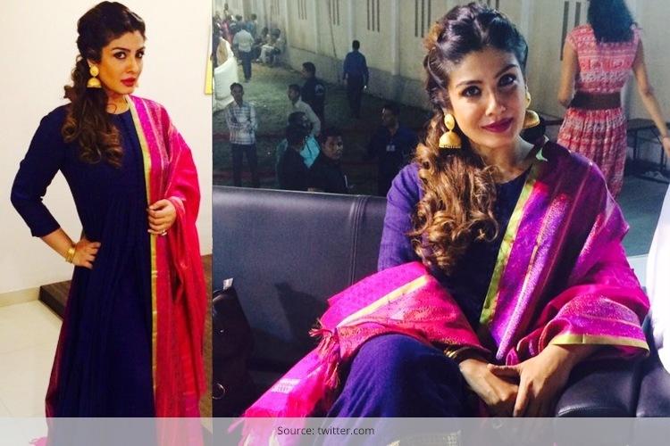 Raveena Tandon in Gaurang Shah Outfit