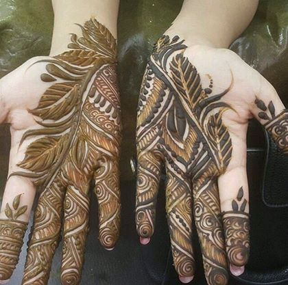 Simple mehndi Designs karva chauth