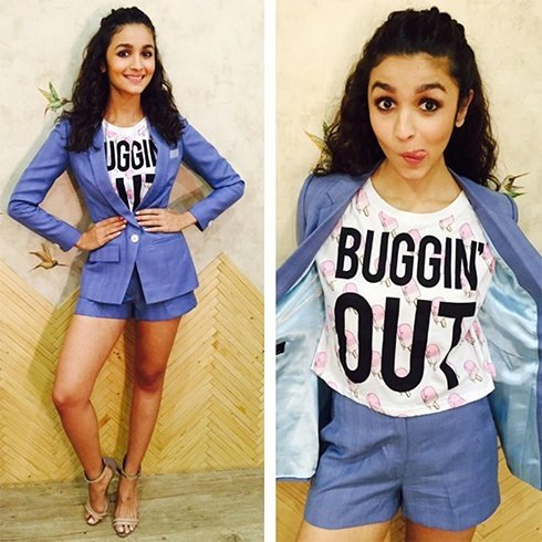 Alia Bhatt in blue separates