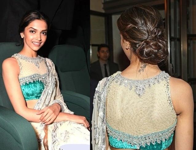 Backless saree blouse designs