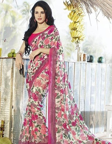 Best floral design sarees