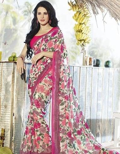 Best floral design sarees