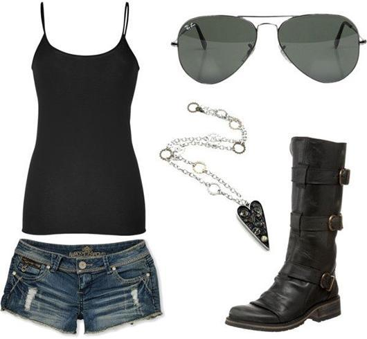 Biker chick outfits