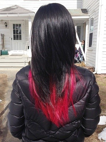 Red and black hairstyles the latest color trend that were in black and red hair urmus Images