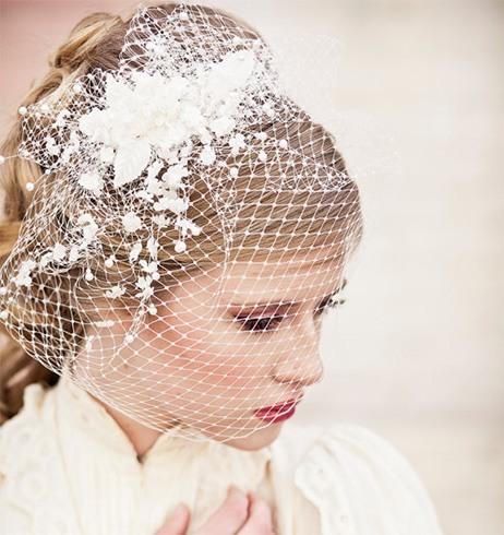 Bridal best birdcage veils