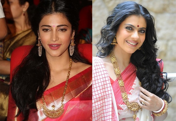 Celebs in temple jewellery