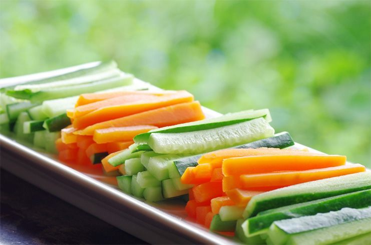 Cucumber and carrot for health
