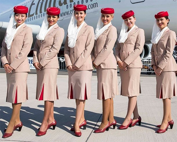 Emirates cabin crew uniforms