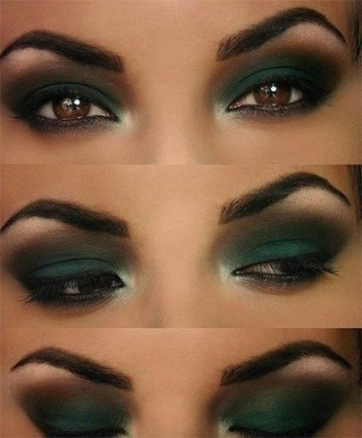 Eyeshadow makeup for brown eyes