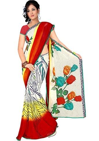 Floral designer sarees