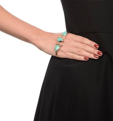 Floral palm cuff bracelet